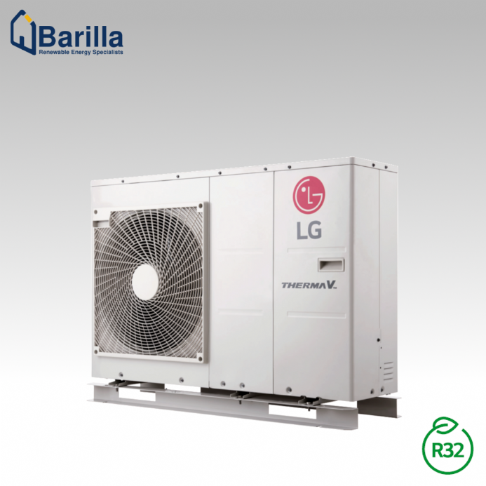 9kW Air to Water LG Therma V R32 Monobloc Heat Pump